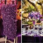 Пурпурный свадебный декор