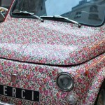 Раскрась машину в мелкий цветочек