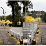 Украшение свадьбы желтыми цветами
