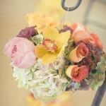Цветы мягких тонов на свадьбе