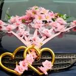 Золотые сердца и розовые цветы