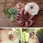 Невеста с цветочным кулоном
