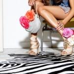 Цветочные туфли и сумочка для невесты