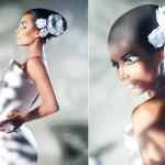 Свадебная прическа с цветочным бантом