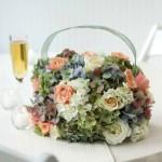Сумочка из цветов мягких тонов