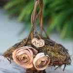Сумочка невесты, сплетенная из лесных ветвей