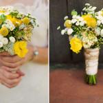 Желто-зеленый букет невесты
