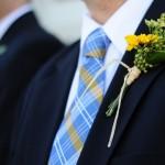 Летние мотивы для свадебной бутоньерки