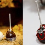 Свадебные кольца на шоколадных конфетах