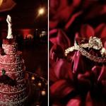 Свадебные кольца на свадебном торте