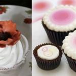Капкейки со сладким розовым наполнителем