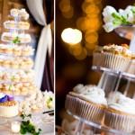 Каскад капкейков на свадьбе