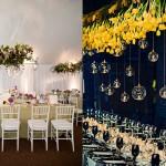 Подвесные украшения из желтых цветов