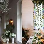 Подвесные украшения с белыми цветами