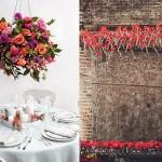 Подвесные украшения из красных цветов