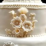 Цветочный декор свадебного торта