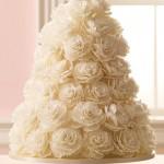 Свадебный торт из роз