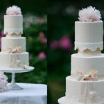 Свадебный торт нежно-бежевого цвета