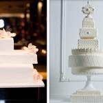 Свадебные торты прямоугольной формы с цветами