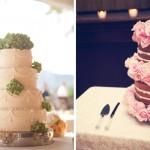 Свадебные торты украшенные нежными цветами