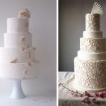 Свадебные торты украшенные лепестками цветов