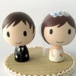 Фигурки жениха и невесты для свадебного торта