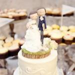 Забавные фигурки для свадебного торта