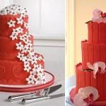 Свадебные торты кирпичного цвета