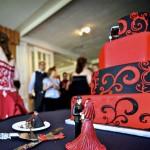 Красно-черный свадебный торт