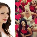 Красные сердечки для подружек невесты