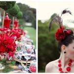 Красная свадьба с цветами