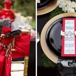 Красные ленты в оформлении свадьбы