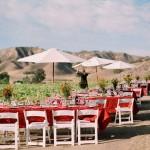 Красные скатерти в свадебном оформлении
