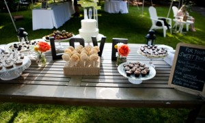 DIY-Red-Pink-BBQ-Picnic-Maryland-Wedding-Dessert-Buffet-550x366