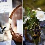 Свадьба украшенная композициями из ежевики