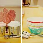 Мороженое на свадебном пикнике