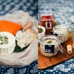 Сырные закуски с зеленью для свадебного пикника