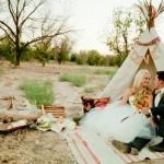 Свадебный пикник для двоих в стиле коренных народов Америки