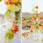 Свадебный пикник в бело-оранжевом стиле
