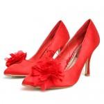 Красные свадебные туфли для невесты