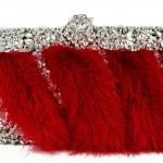 Свадебный клатч с красным мехом