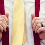 Красные свадебные подтяжки для жениха