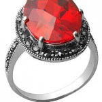 Рубиновое кольцо для невесты