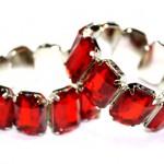 Рубиновые браслеты для невесты