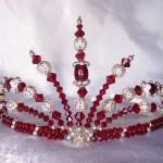 Рубиновая тиара для невесты