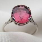Розовое кольцо для невесты