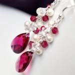 Розовые серьги для невесты