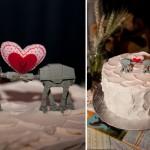 Оригинально. Такой тортик особенно порадует маленьких гостей на свадьбе