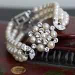 Жемчужный браслет для невесты