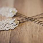 Жемчужные заколки для невесты